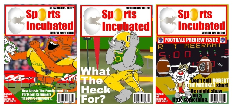 Sports Incubated covers featuring most of The Gang